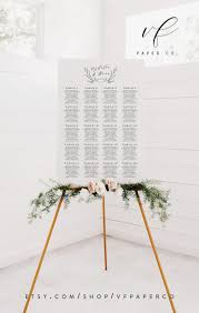 Etsy Table Seating Chart Table Seating Chart Template Printable Wedding Seating Plan Sign Diy Wedding Decor 16x24 And 24x36 You Edit In Templett