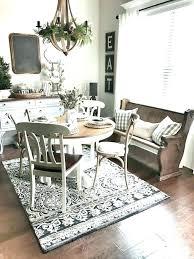 wonderful area rug under dining table kitchen no area rug under dining room table