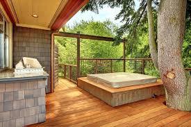 hot tub surround image by architects enclosure uk hot tub surround deck wood