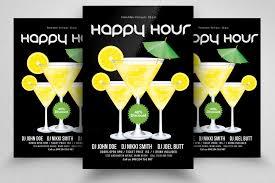 Happy Hour Flyer Happy Hour Flyer Template By Designhub Thehungryjpeg Com