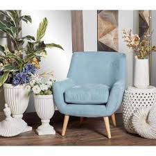 light blue furniture. Contemporary Light Light Blue Fabric And Wood Cushioned Arm Chair Throughout Furniture