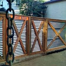 corrugated metal privacy fence panels gate picture texture