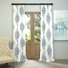 blue white curtain panels exclusive fabrics blue printed cotton twill curtain panel blue size x red blue white curtain panels