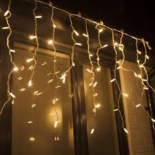 Connectable Icicle Lights Outdoor Professional Connectable Twinkle Warm White Icicle Christmas Lights Outdoor Lighting By Qbis Icicle Warm White