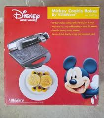 Disney Mickey Mouse Cookie Baker By Villaware Waffle Cookie Maker