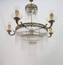 vintage bronze glass empire chandelier by vicente cebriá for lámpaars cebriá 5