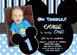 Mickey Mouse 1St Birthday Invitation Template Free - April.onthemarch.co