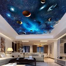 Space Bedroom Wallpaper Custom Mural Wallpaper 3d Universe Space Star Planet Ceiling