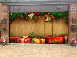 Merry Christmas Garage Door Covers 3d Banners Holiday Tree Decorations  Outdoor Billboard Murals GD56