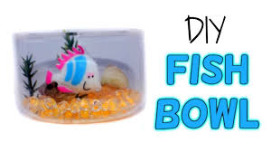 diy miniature fish bowl aquarium how to make lps crafts doll stuff dollhouse things