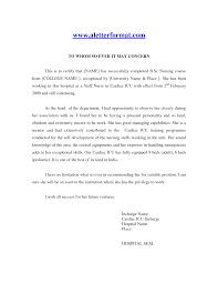 Nursing School Recommendation Letter Sample Letter With Lucy Jordan