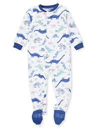 Carters Sleepers Size Chart Carters Infant Toddler Boys Plush White Dinosaur Sleeper Dino Pajamas