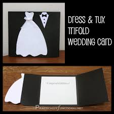 diy wedding card dress tux trifold printable practically functional