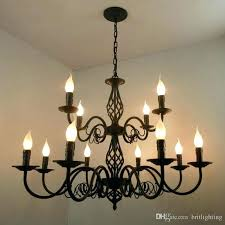 wrought iron chandeliers rustic large industrial
