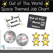 First Grade Job Chart Out Of This World Helpers Job Chart