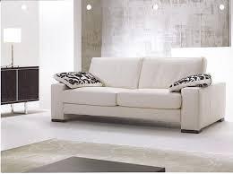 zani04 sofa 2 seater white leather leather sofa