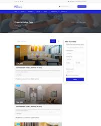 Property Property Listing And Single Property Website Template 65145