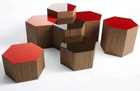 collection hexagonal coffee tables