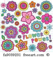 flower power art print flower power groovy doodles set on wall art flower power with free flower power art prints and wall art freeart