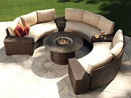kitchen gorgeous outdoor rounded sectional of com genuine patio wicker furniture all round home depot round sectional patio furniture