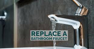 replace a bathroom faucet in diy method