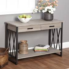 black sofa table with storage. Simple Living Seneca XX Black/ Grey Reclaimed Wood Sofa Table - Overstock™ Shopping Great Deals On Coffee, \u0026 End Tables Black With Storage T