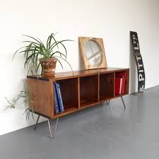 lp storage furniture. Sonor Large Record Player TV LP Vinyl Storage Stand Cabinet Table Solid Wood On Mid Century Hairpin Legs. Lp Furniture