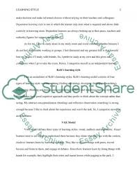 learning styles my learning style essay example topics and well  learning styles my learning style essay example