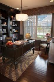 Traditional office design Interior Liked On Home Office Window Traditional Home Office Builtin Storage Chandelier Coffered Ceiling Dark Woods Desk Upholstered Armchair Window Treatments Pinterest 39 Best Traditional Home Offices Images Design Offices Home