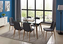 kitchen dining table set for 6 with gl top extra thick and dining side chair wooden