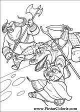 Drawings To Paint Colour Kung Fu Panda 2 Print Design 006
