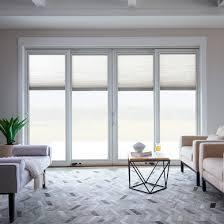 living room patio sliding door white trim lifestyle series by pella