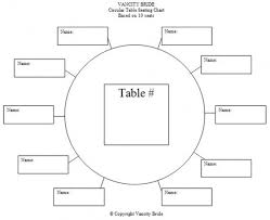 wedding reception seating chart template round tables images