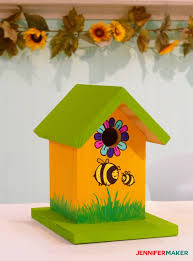 make a painted birdhouse with our free birdhouse plans diy birdhouse