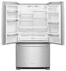 Kitchen Aid French Door Kitchenaid Black French Door Refrigerator Krff305ebl