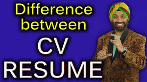 Difference Between Cv Resume How To Improve English Speaking