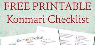 Konmari Checklist {Free Printable} | Jersha & Dup