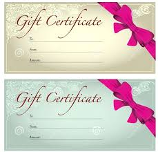 photography gift voucher template photo certificate