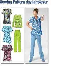 Scrub Top Patterns Simple Simplicity Sewing Pattern 48 Misses Scrub Tops Pants Hat Sizes XXS