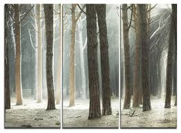 maritime pine tree forest with rays forest metal wall art 3 panels  on pine tree forest metal wall art with maritime pine tree forest with rays forest metal wall art 3 panels