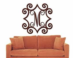 wrought iron inspired wall art with monogram initial indoor or outdoor metal wall art metal wall decorations on cast iron outdoor wall art with outdoor metal wall art etsy