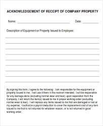 company property acknowledgement form company property agreement template company property agreement