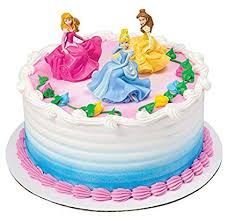 Amazoncom Decopac Disney Princess Once Upon A Moment Decoset Cake