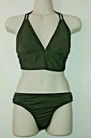 Green Bralette Bikini Top Classic Bottom Swim Bathing Suit