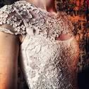 Ирландское кружево на свадебном платье
