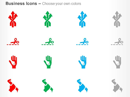 Multiple Process Flow Child Hand On Adult Hand Ppt Icons