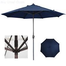 California Umbrella 9 Ft Sunbrella Designer Market Umbrella Details About California Umbrella Patio Umbrella Aluminum Auto Tilt In Navy Blue Olefin 9 Ft