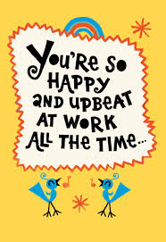 Admin Professionals Day Cards Youre So Upbeat Funny Admin Professionals Day Card Greeting Cards