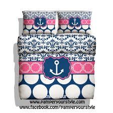 bedroom anchor bedding unique monogrammed nautical anchor bedding hot pink and navy bedding mint