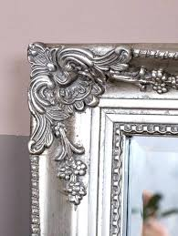 wall mirrors large ornate wall mirror silver mirrors for clock